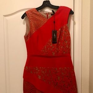 BCBG Red Cocktail dress new with tags